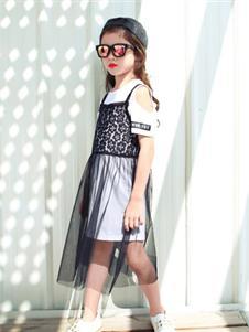 下一個奇跡春夏裝黑色吊帶裙