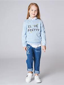 加比瑞2019秋冬裝藍色衛衣