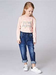 加比瑞2019秋冬裝粉色衛衣
