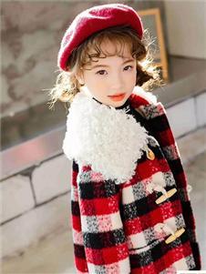 Timi Kids2019秋冬裝格子加絨大衣