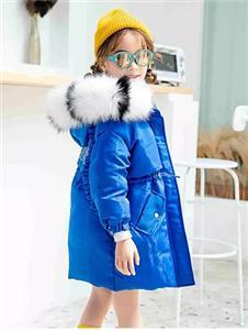 Timi Kids2019秋冬裝藍色羽絨衣