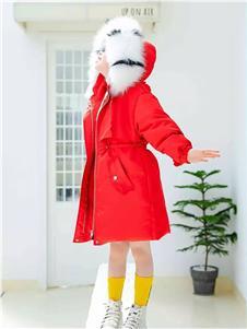 Timi Kids2019秋冬裝帶帽羽絨衣