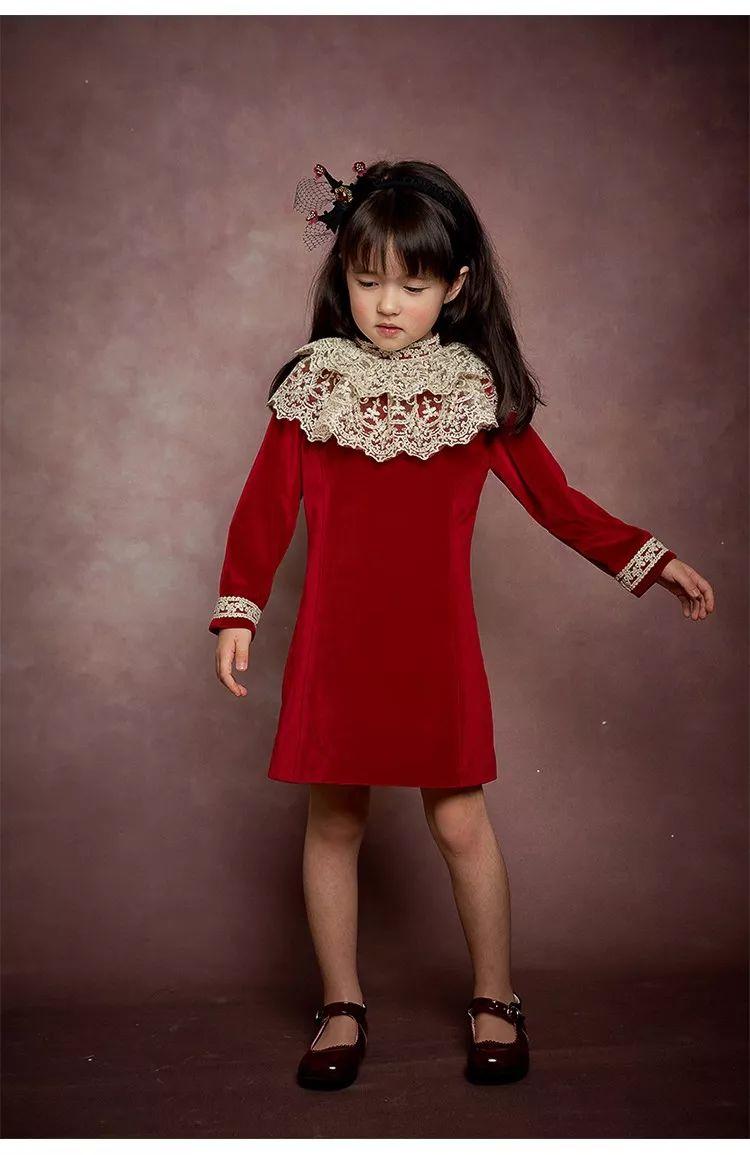 玲珑童装NEW 丝绒连衣裙 探寻优雅