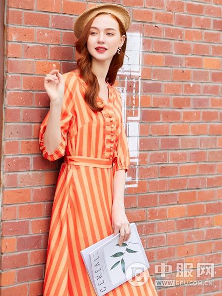 贝珞茵2020新款条纹连衣裙