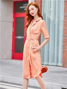 贝珞茵2020新款衬衫裙