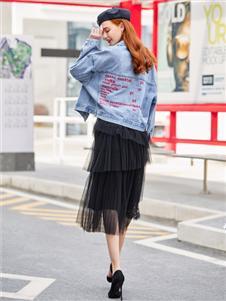 贝珞茵2020新款黑色半裙