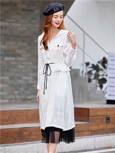 貝珞茵2020白色休閑外套