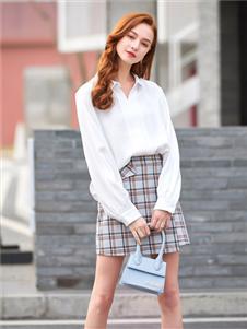 贝珞茵2020新款白色衬衫