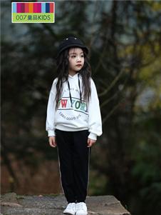 007童品童装007童品秋冬款带帽卫衣