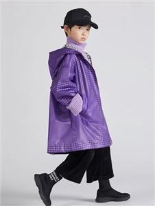 edo KIDS秋季紫色长款外套