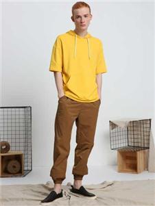 观译男装观译2019春夏装黄色卫衣