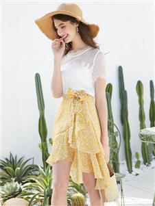 容悦女装Loyer.Mod容悦新款波点半身裙