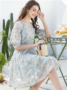 容悦女装Loyer.Mod容悦春季新款中袖连衣裙