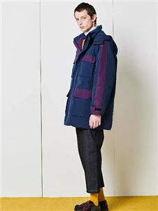DEPOT3新款蓝色加厚外套