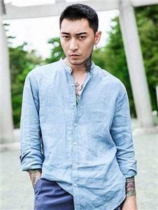 集云2019新款蓝色衬衫