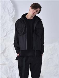 825ing秋冬装黑色拉链外套