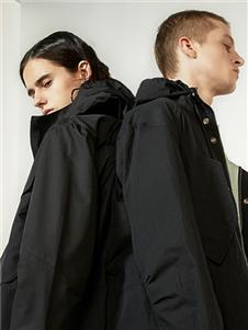 825ing秋冬装黑色带帽外套