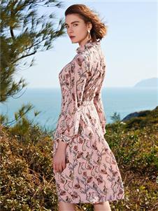 千桐女装新款唯美印花裙