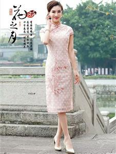 唐雅阁新款粉色旗袍