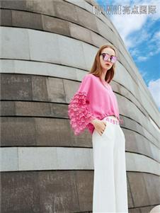 ONEONLY女装独一无二春季新款粉色上衣