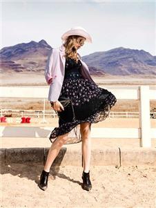ONEONLY女装独一无二春季新款黑色纱裙