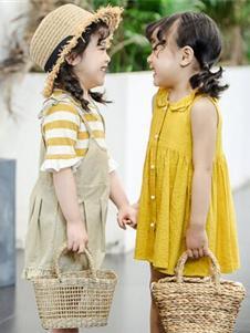 嗒囜黃色連衣裙