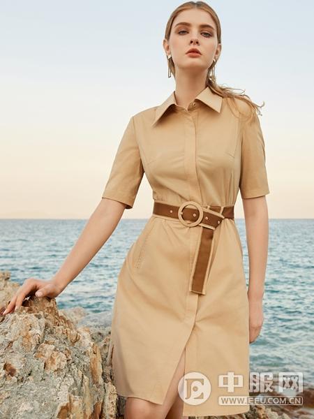 LEAGEL例格女装2020新款衬衫裙