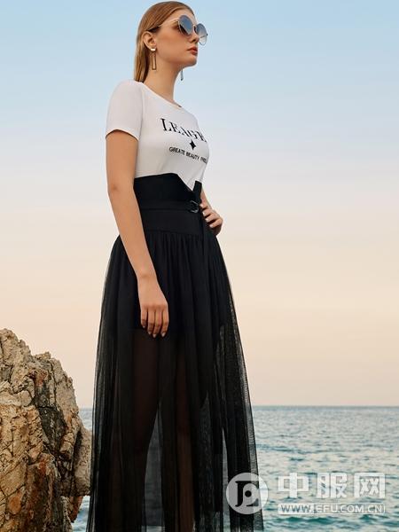 LEAGEL例格2020新款黑色半裙