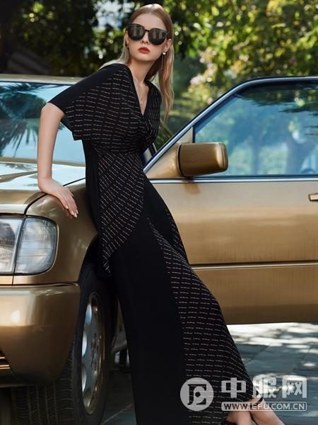 LEAGEL例格2020新款优雅连衣裙