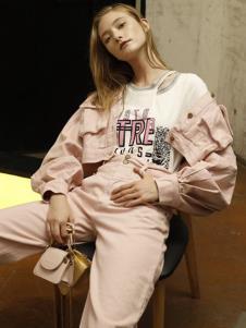 雅芙女装雅芙2020春夏粉色外套