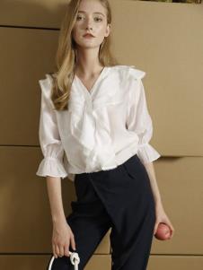 雅芙女装雅芙2020春夏白色衬衫
