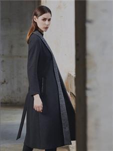 艺梦来2019秋冬款黑色大衣