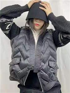欧出色女装拼接外套