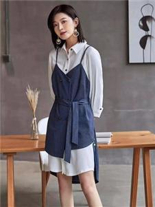 贝银女装BGV2019春夏新款气质衬衫裙