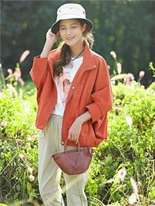 古树叶橙色外套
