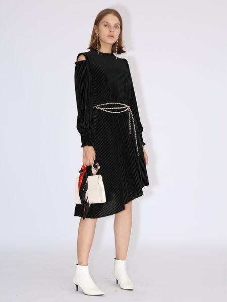 betu百图黑色连衣裙