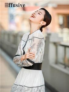 三弗新款白色纱裙