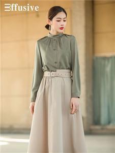 三弗長款半身裙