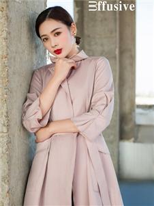 三弗2020春季新款粉色大衣