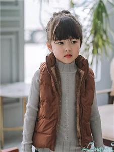 玲珑咖色背心外套