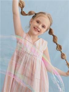 安米莉粉色连衣裙