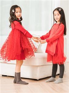 史丘比红色连衣裙
