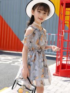 賓果童話新款印花連衣裙