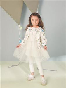 金果果白色连衣裙