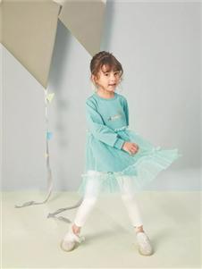 金果果蓝色连衣裙