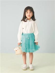 金果果蓝色短裙
