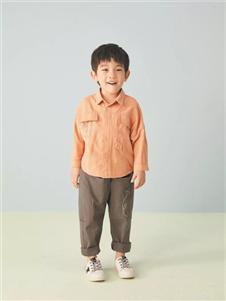 金果果橘色衬衫