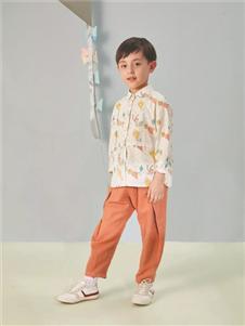 金果果橘色长裤