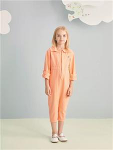 金果果橘色連體衣