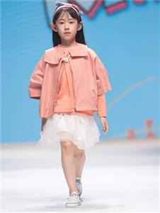 金果果粉色外套